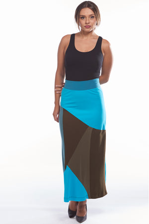 Blue Mosaic Skirt - FOAT
