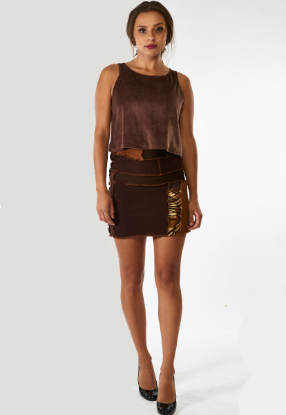 Brown Sweater Skirt - FOAT