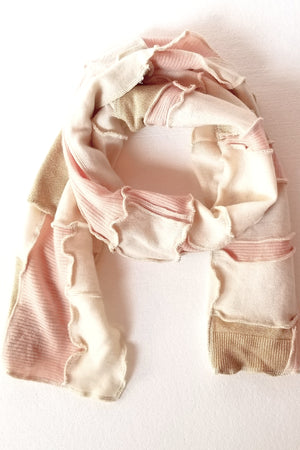 Cream Patchwork Scarf