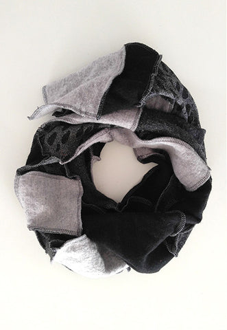 Grey Patchwork Scarf - FOAT  - 1