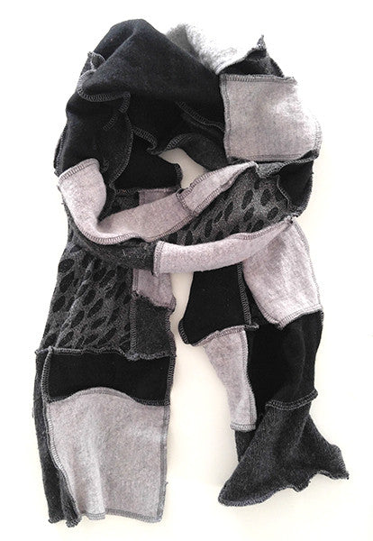Grey Patchwork Scarf - FOAT  - 2