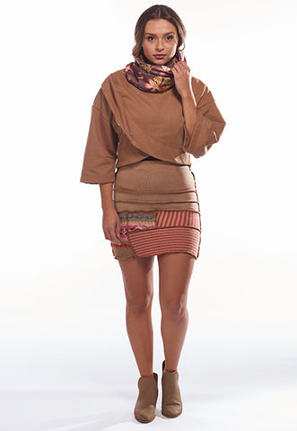 Light Brown Sweater Skirt, S - FOAT