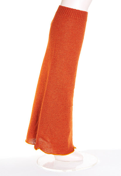 Orange Boot-Cut Leg Warmers - FOAT