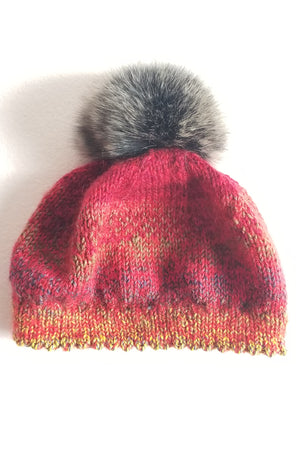 Red Variegated Hat
