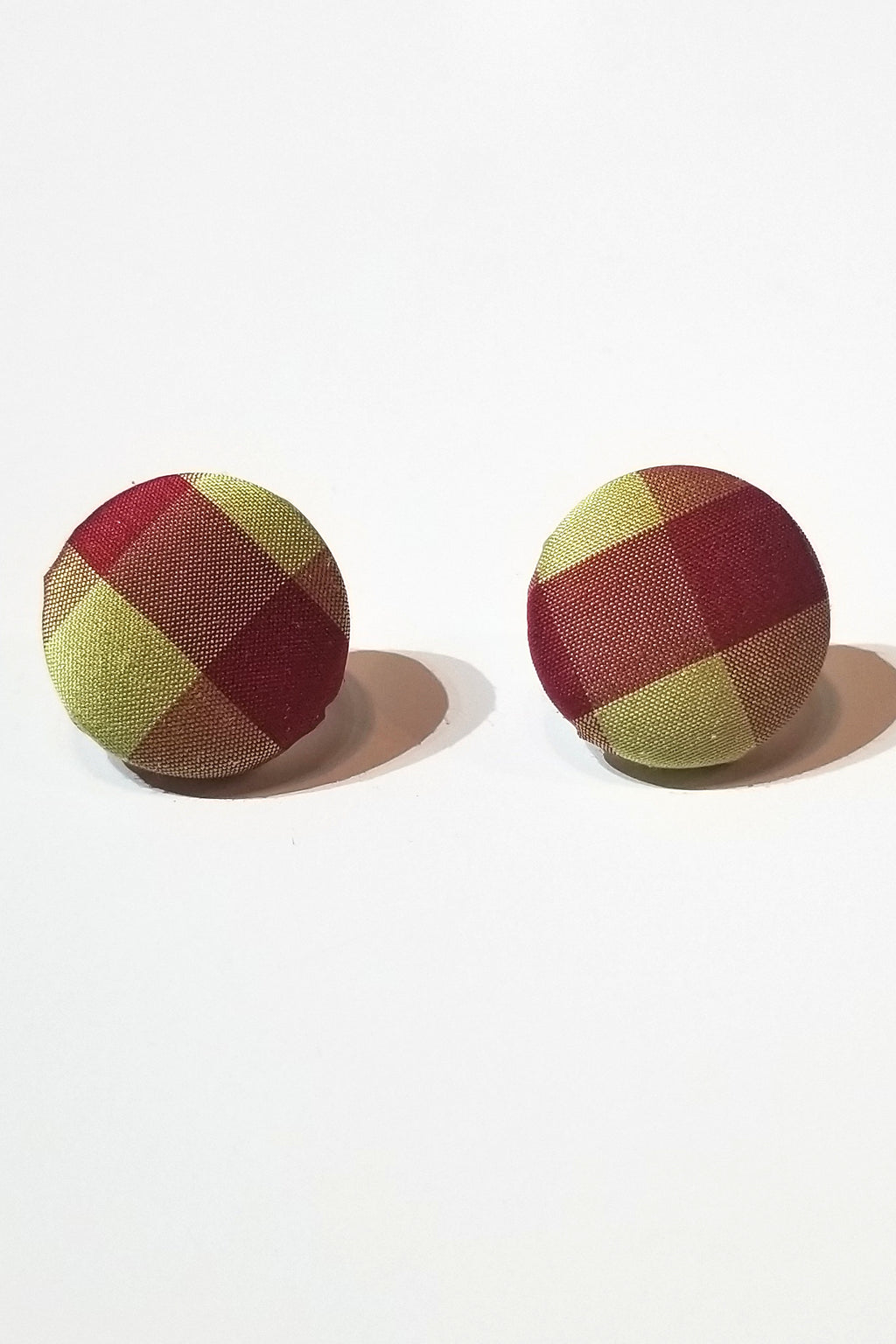 Yellow & Red Plaid Earrings