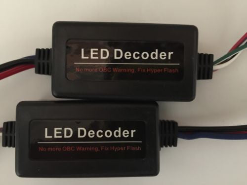 2 pcs Auto LED Decoder/Load Resistor, No Flickers, Fix Hyper Flash and Error Free