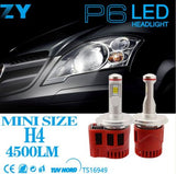 Genuine Philips Luxeon ZES Chip LED Headlight Kit 90W & 9000LM/Set, Color Temperature White 6000K