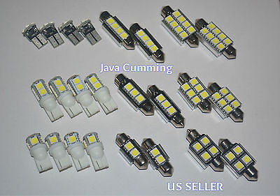 24 Pcs Canbus Error Free White Auto Interior & Dome LED SMD and T10 Light bulbs