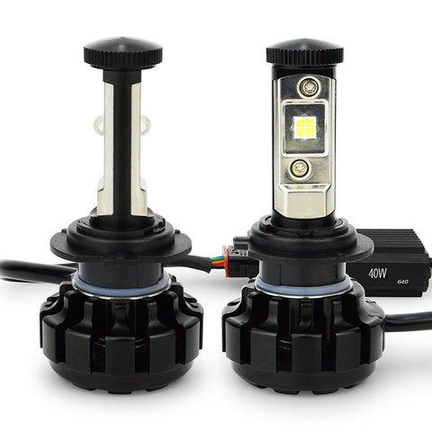 Cree XHP-50 LED Headlight Kit 80W & 9600Lm/Set Single Beam Bulb, Xenon White 6000K