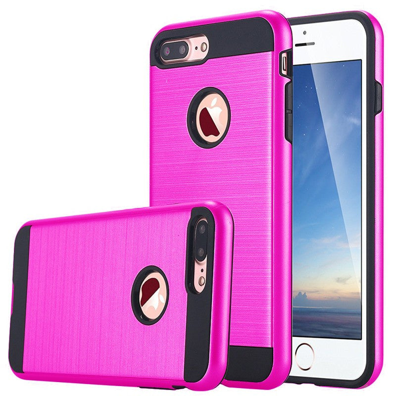 iPhone 7 Plus/6S Plus/6 Plus Case Cover With Stylist Metal Brushed and dual layer protection.