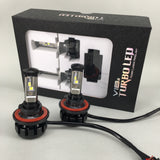 Cree XHP50+XML2 LED Headlight Kit 100W & 12000Lm/Set Dual Beam Hi/Lo, Color Xenon White 6000K
