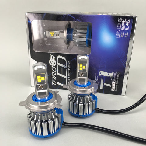 Cree LED Headlight Kit 80W & 8000Lm/Set Dual Beam Hi/Lo, Color Xenon White 6000K