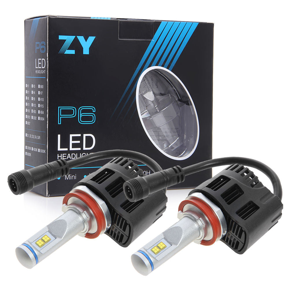 Genuine Philips Luxeon MZ Chip LED Headlight Kit 110W & 10400LM/Set, Color Temperature White 6000K