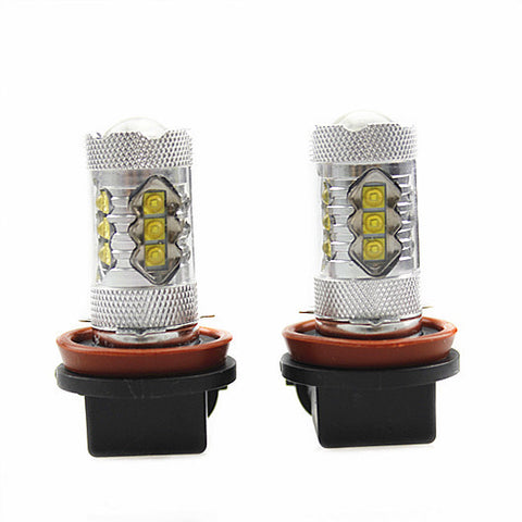 2Pcs Genuine Cree XB-D Auto LED Fog Light or Day Time Running Light 80W 1900LM, Color Cool White 6000K
