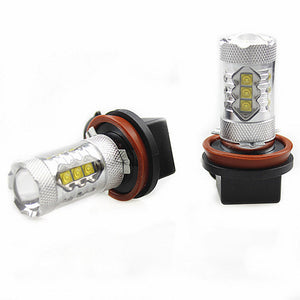2Pcs Genuine Cree XB-D Auto Fog Light or DRL LED Bulb 80W 1900LM, Color Cool White 6000K