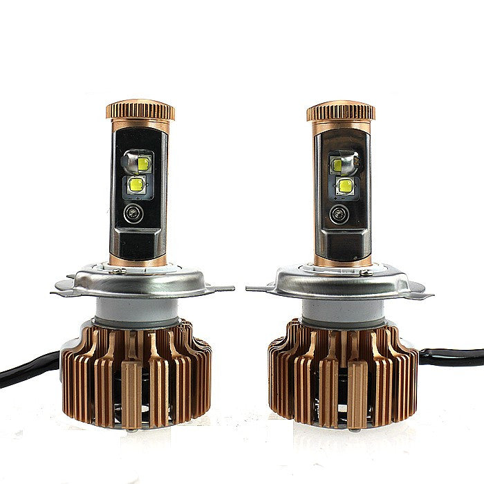 Gold Edition High Power Dual beam Hi/Lo LED Headlight Kit 80W & 7600LM/Set, Color Cool White 6000K