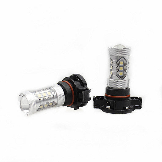 2Pcs Cree Auto LED Fog Light or Day Time Running Light 80W 1900LM, Color Cool White 6500K