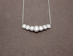 Collier Diamants et Or Blanc