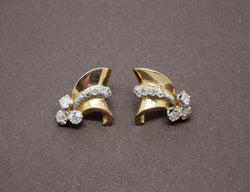 Boucles d'Oreilles 1950 Or et Diamants