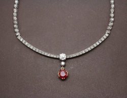 Collier Diamants et Rubis