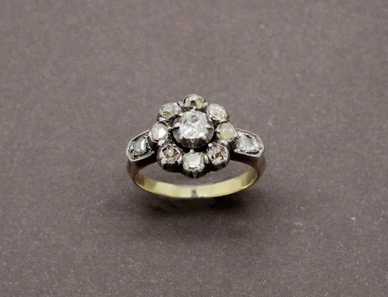 Bague Ancienne Marguerite Diamants