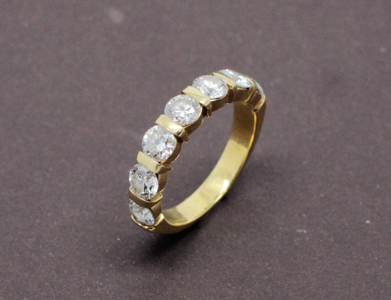 Demi-alliance Diamants 1.5ct or jaune