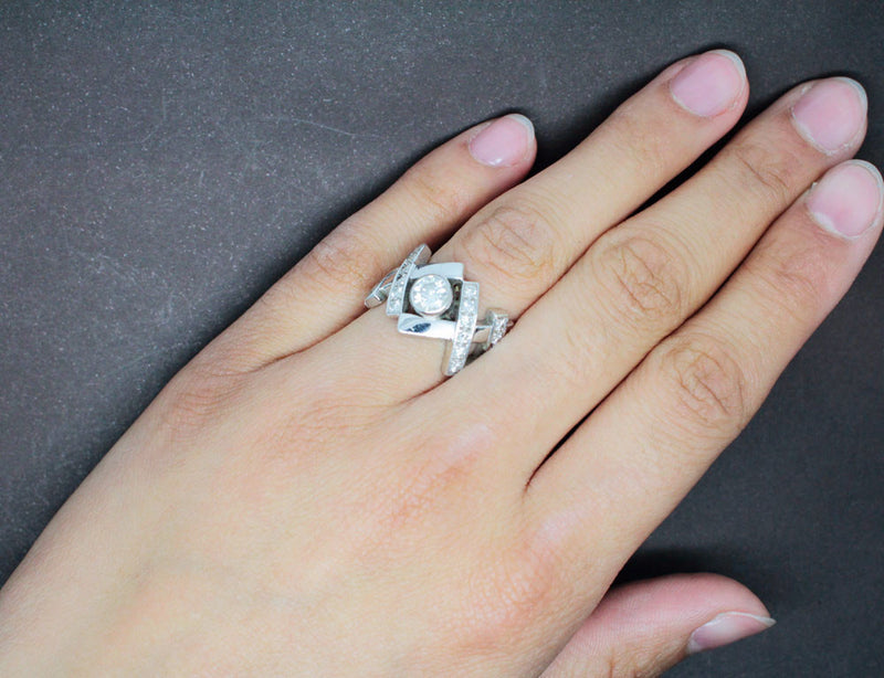 Bague Diamants 1 Carat et Or Blanc