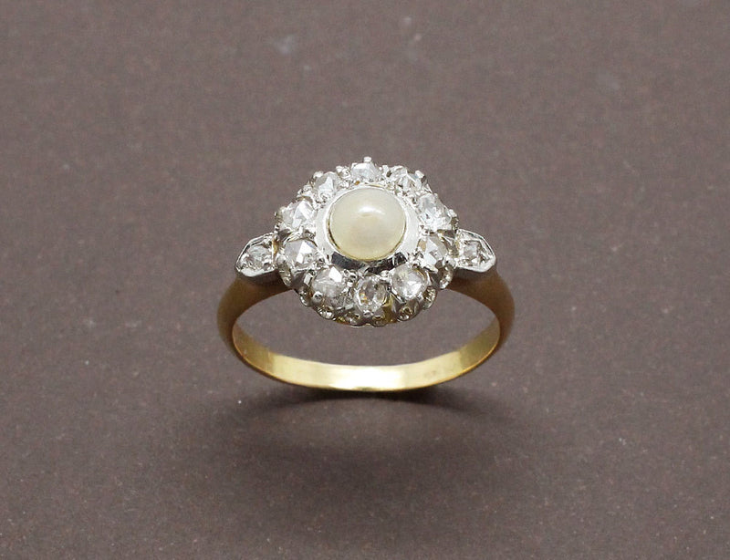 Bague Marguerite Perle et Diamants