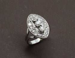 Bague Marquise Diamants Or Blanc