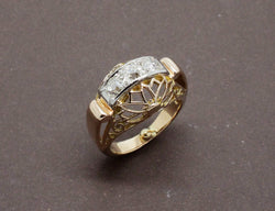 Bague Or Jaune Diamants 1950
