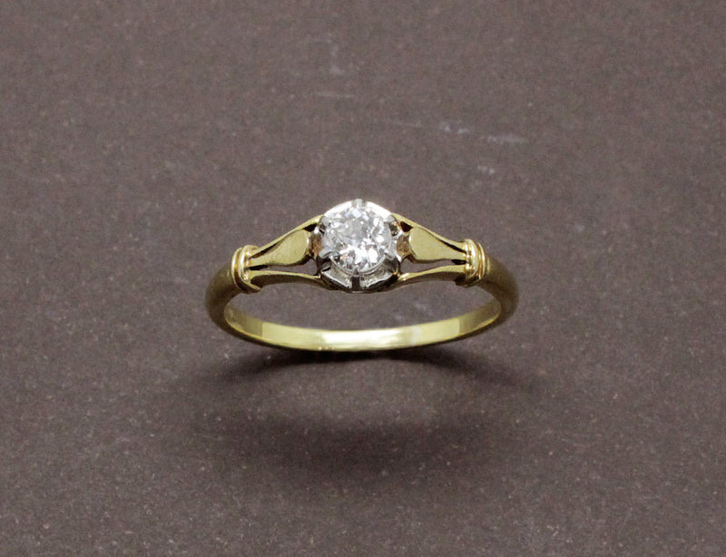 Solitaire Diamant Ancien Or Jaune