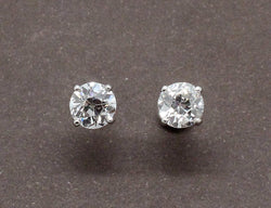 Puces d'Oreilles Diamants Or Blanc