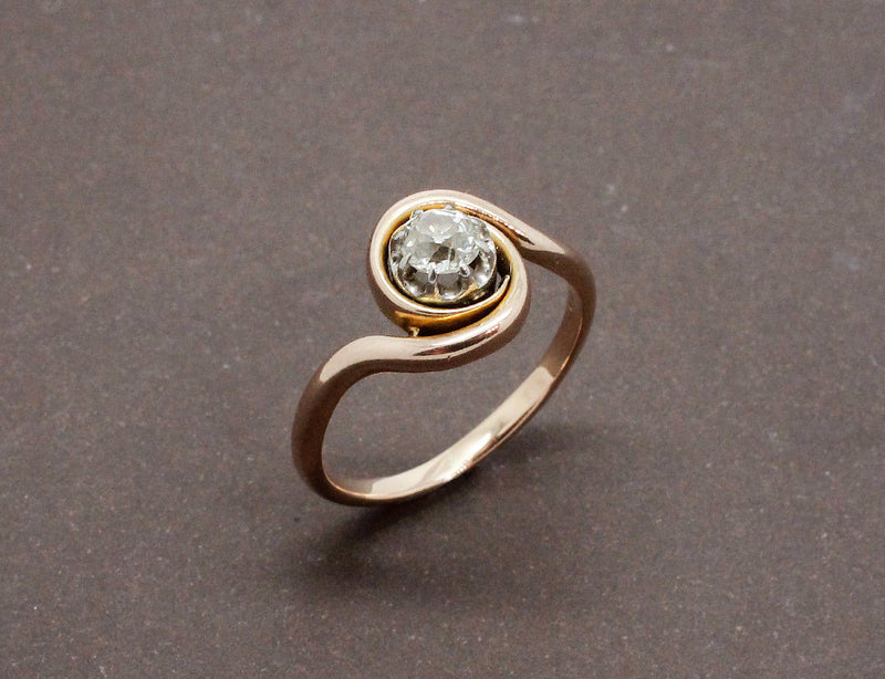 Bague Tourbillon Or Rose Diamant
