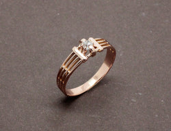 Bague Fils Or et Diamants