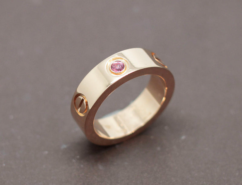 "Bague Cartier ""Love"" Or Rose Saphir Rose"