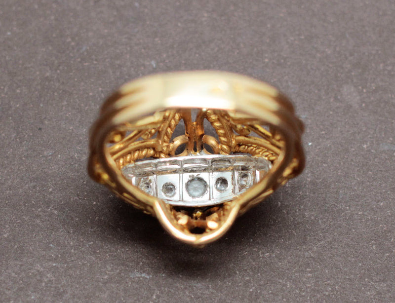 Bague 1950 Or et Diamants
