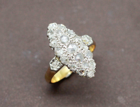 Bague Marquise Or Diamants