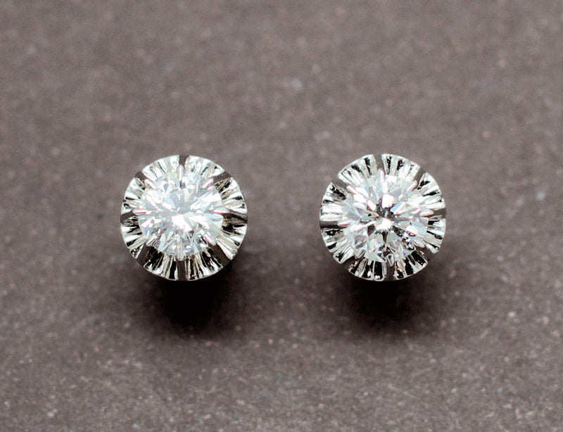 Puces d'oreilles Diamants