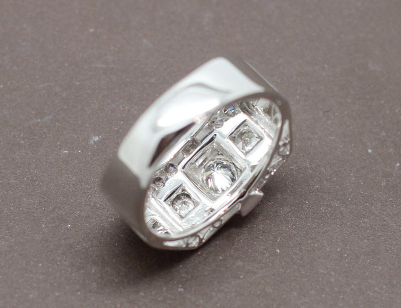 Bague Tank Or Blanc Diamants
