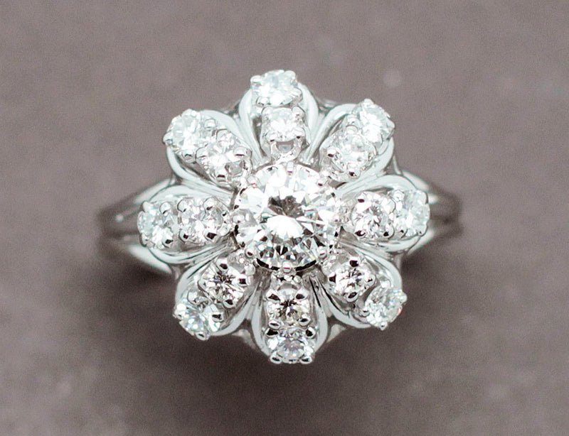 Bague Fleur Diamants 1950