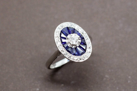 Bague Marguerite Or Blanc et Diamants