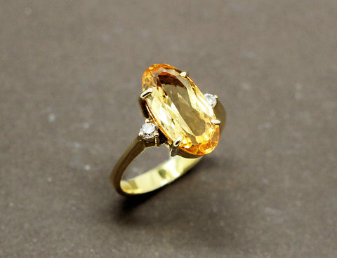 Bague Tank Or Jaune Platine Saphir et Diamants