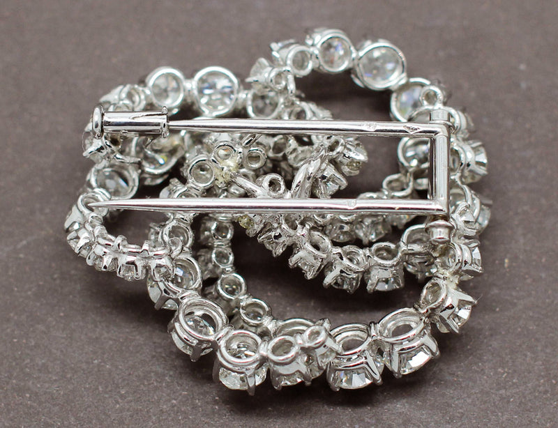 Broche Diamants Taille Ancienne
