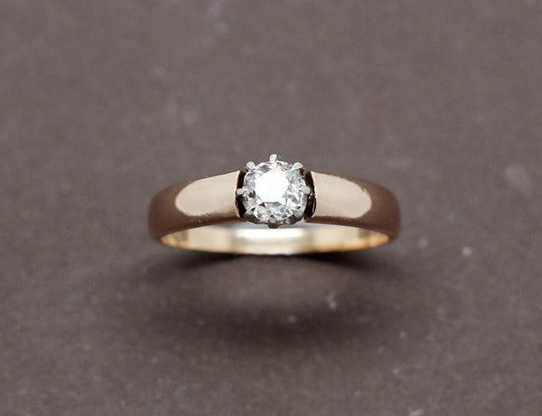 Solitaire Or Rose Diamant