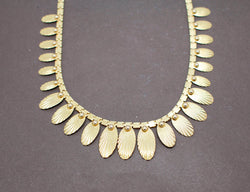 Collier Draperie Or Jaune 1950