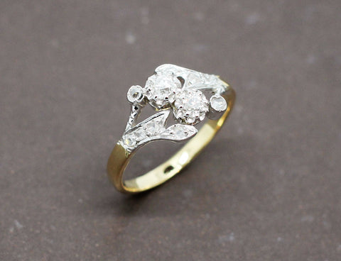 Bague 2 Ors Diamant Triangle