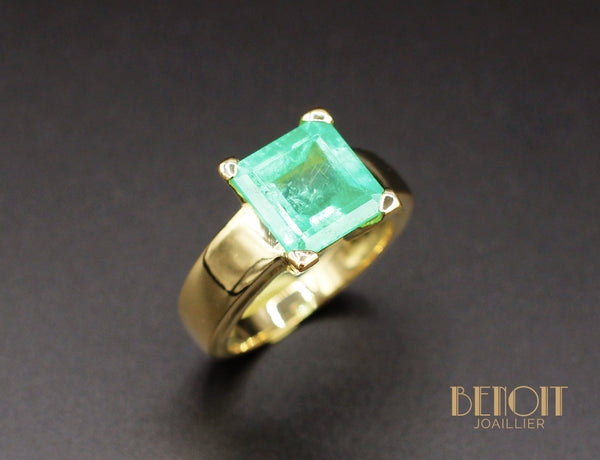 Bague Emeraude Or Jaune