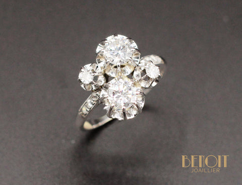 Bague 1930 or et diamants