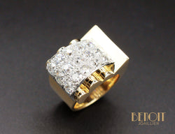 Bague Tank Or et Diamants