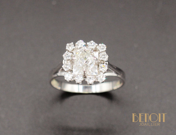 Bague 1960 Or Blanc Diamants